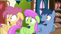 Orange Swirl, Merry May, and Noteworthy shocked S7E19