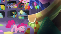 Pinkie about to go up the slide S5E11