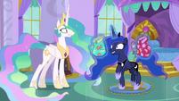 Princess Luna prancing with excitement S9E13