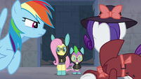 Rarity notices Fluttershy and Spike S9E4