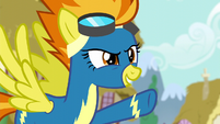 """Spitfire pointing at Rainbow """"flying"""" S6E7"""