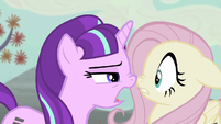 Starlight wants Fluttershy to tell names of dissatisfied friends S5E02