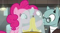 Pinkie Pie boops Sans Smirk's nose S9E14