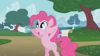 Pinkie Pie with her hooves in her head S1E05