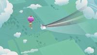 Rainbow Dash flying fast S2E02