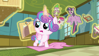 Twilight tries to tell Flurry Heart to stop S7E3
