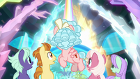 Cozy and students look back at rainbow S8E26