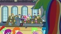 Pinkie Pie interrupts Rainbow's speech EG3