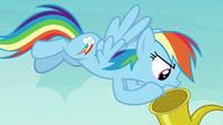 Rainbow shouts into Apple Rose's hearing aid S8E5