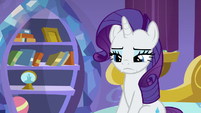Rarity's smile vanishes from her face S9E19