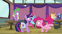 "Pinkie Pie ecstatic ""I love games!"" S9E16"
