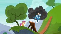 Rainbow Dash kicking the air S6E7