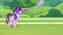 Starlight Glimmer appears with a sizzling horn S8E15