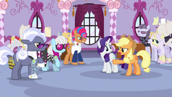 Everypony getting frustrated at Applejack S7E9.png