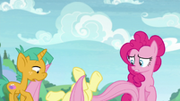 Fluttershy collapsing onto the ground S9E15