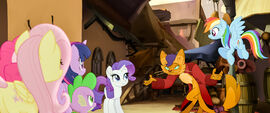 MLP The Movie Moviepilot - The Mane Six meet Capper