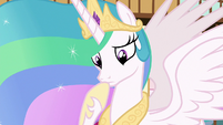 Princess Celestia in contemplative thought S7E1