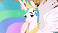 Princess Celestia in contemplative thought S7E1