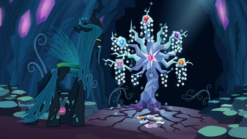 Queen Chrysalis looks at the Tree of Harmony S8E13.png