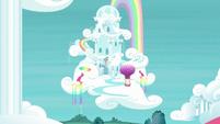 Rainbow Dash's cloudominium exterior S6E14