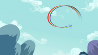 Rainbow Dash flying past 3 S2E16