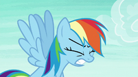 Rainbow Dash growling in frustration S8E9