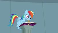 Rainbow Dash writing in journal S4E04