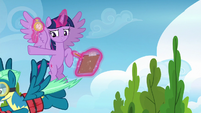 Sky Stinger flying toward the obstacle course S6E24