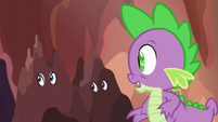 Spike hears Garble's voice S6E5