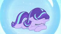 Starlight Glimmer crying inside magic barrier S7E10