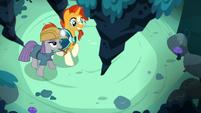 Sunburst and Maud Pie find a rock stalactite S7E24