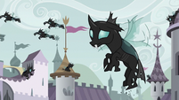 Thorax in the Canterlot wedding invasion S6E16