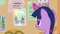Twilight putting up Amity Ball poster S9E7