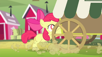 Apple Bloom pushing cart S4E17