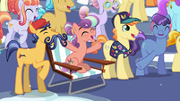 Crystal Ponies cheering S6E2