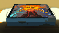 Dragon Pit game box in Sunburst's hooves S7E24