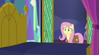 Fluttershy sees Twilight Sparkle fall out of bed S7E20