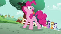 Pinkie Pie acting like a dog S5E19