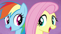 """Rainbow and Fluttershy """"we're a work in progress"""" S7E14"""
