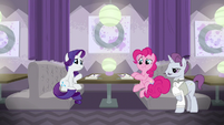 Rarity and Pinkie in another restaurant S6E12