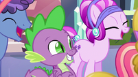 Spike happy for Crystal Hoof S6E16