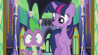 Spike in nervous surprise S5E25
