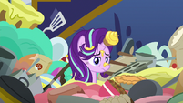 Starlight Glimmer buried in food and kitchenware S6E21