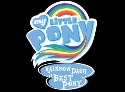 FANMADE My Little Pony Rainbow Dash is best pony logo.png