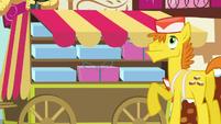 Mr. Cake hears Pinkie Pie S5E19