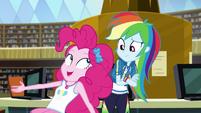 Pinkie getting excited next to Rainbow Dash EGDS12c