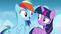 """Rainbow """"almost time for your freestyle training"""" S6E24"""