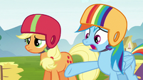 "Rainbow Dash ""why didn't you say anything?"" S6E14"