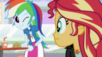 Rainbow Dash winking at -SunShim- EGS3