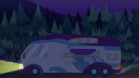 Rarity's RV rolling to a stop EGSBP